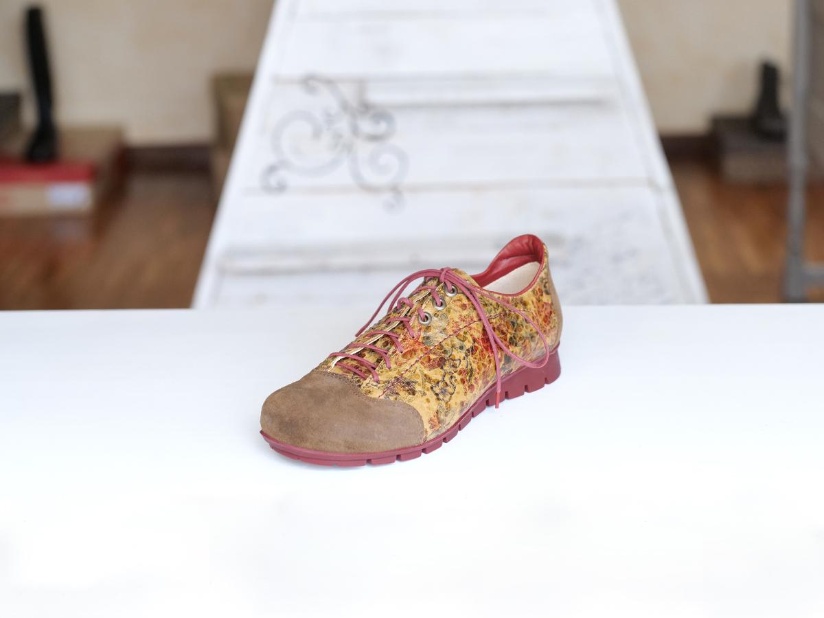 Think Menscha chaussure cognac combi